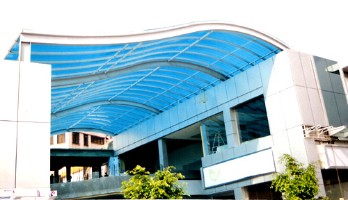Polycarbonate Sheet Structure | Sunshade Solutions Hyderabad India